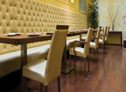 High Back Diamond Oned Banquette Seating In Luxury Leather